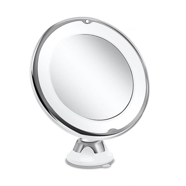 makeup mirror 10x magnification with light face